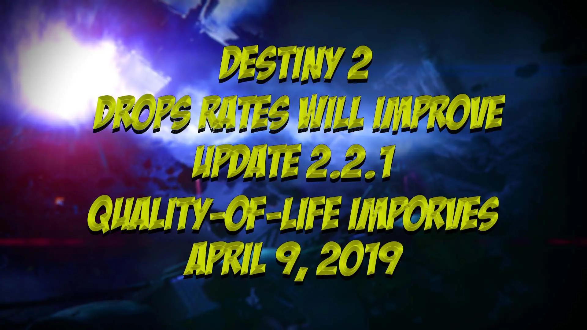 Destiny 2 Improves Quality of Life