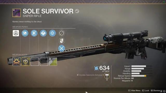 Sole Survivor Legendary Sniper
