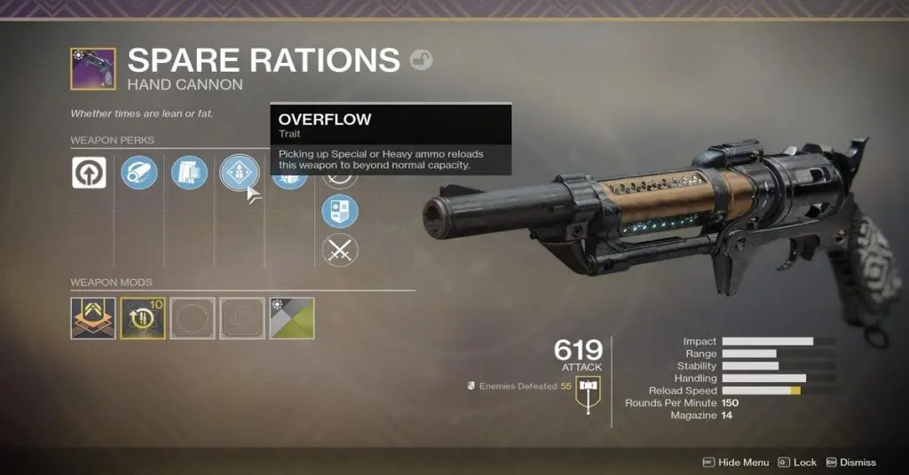 Spare Rations Legendary Hand Cannon