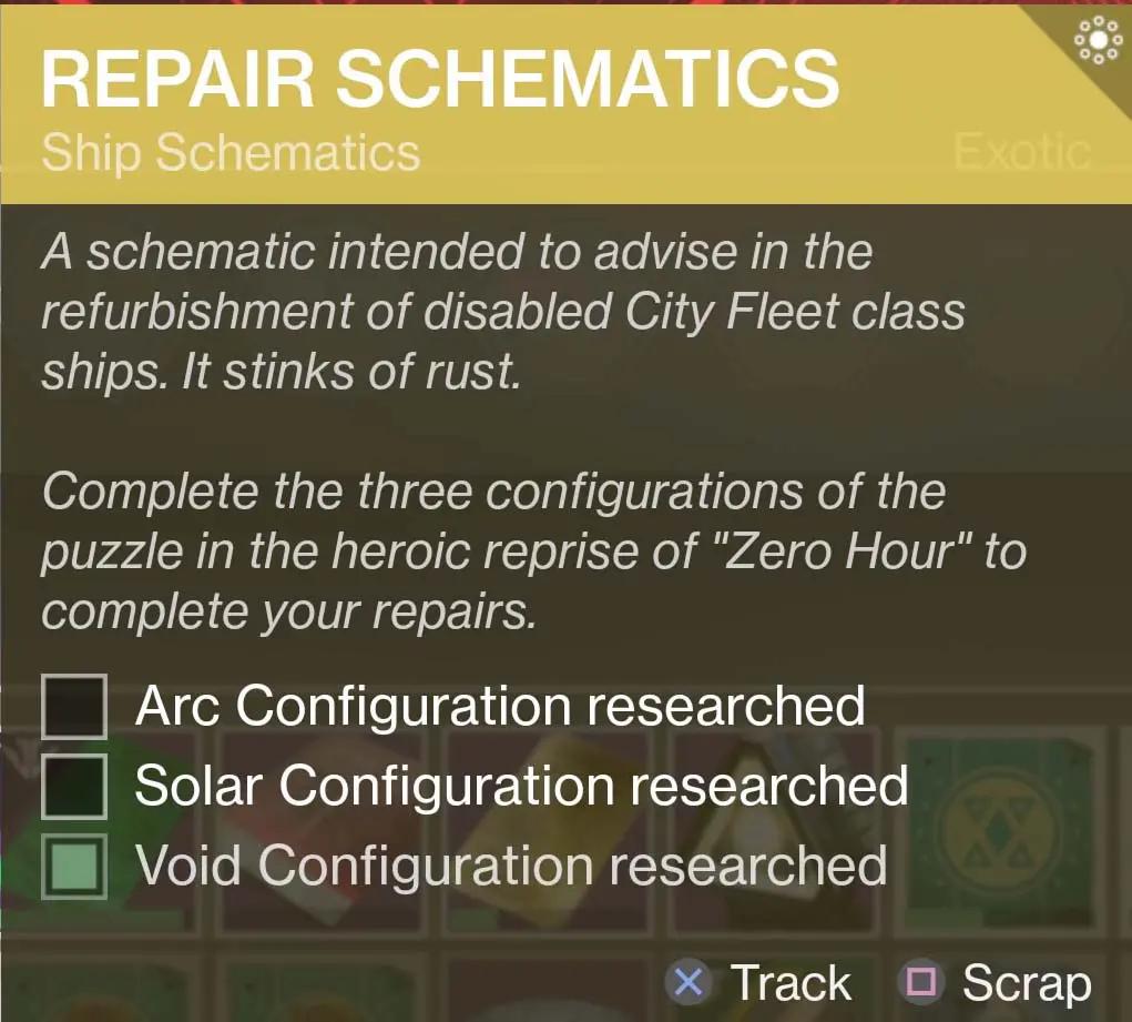 Repair Schematics