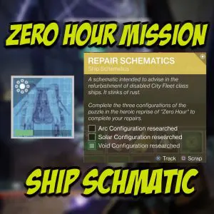 Zero Hour Mission Ship Schematic