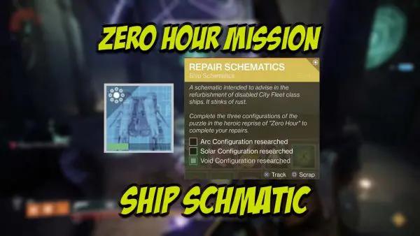 Zero Hour Mission Ship Schematic