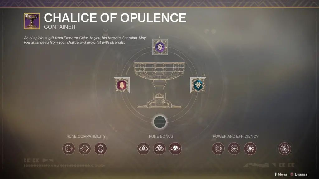 Chalice of Opulence Destiny 2
